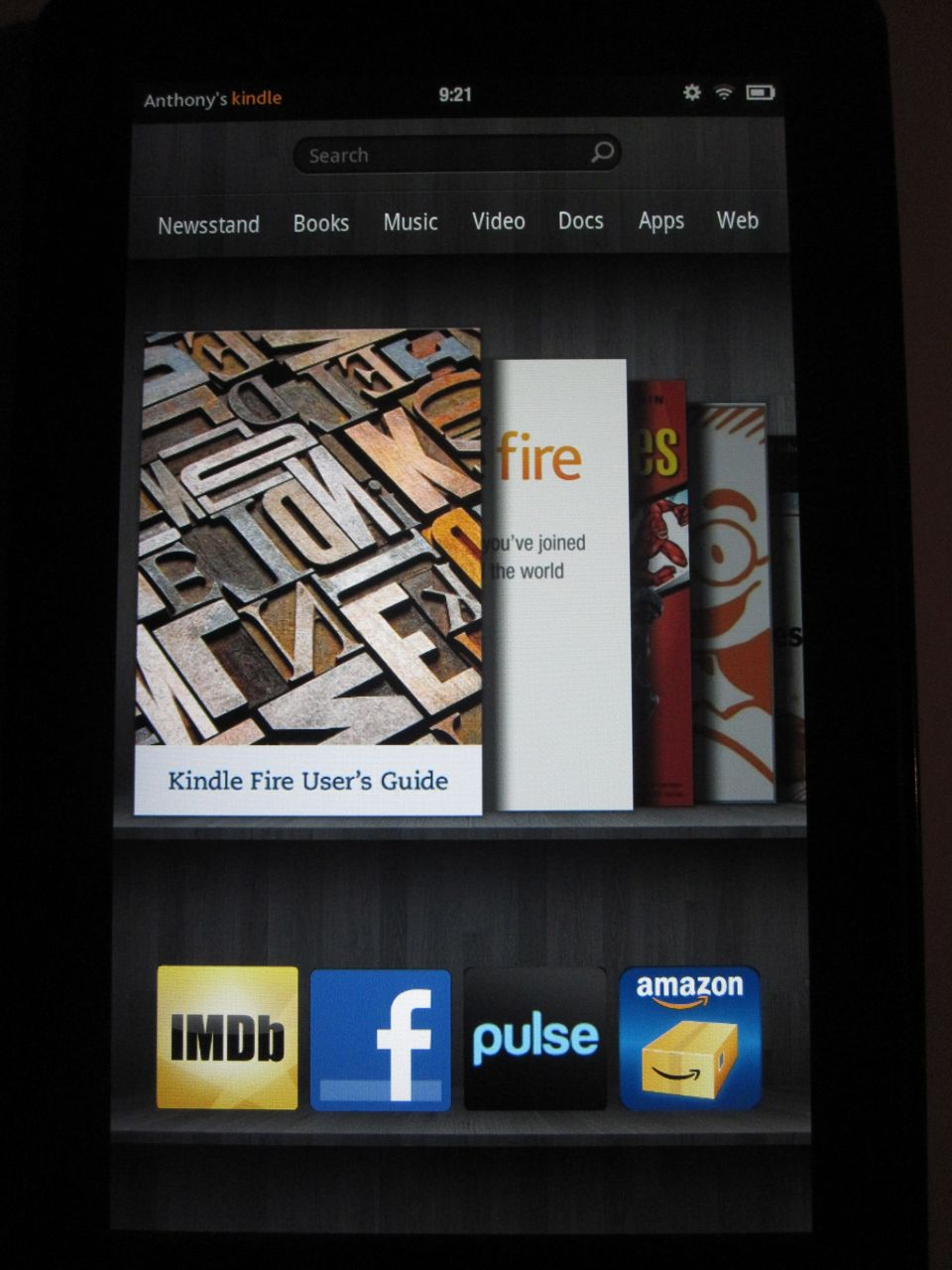 Kindle Fire Homescreen