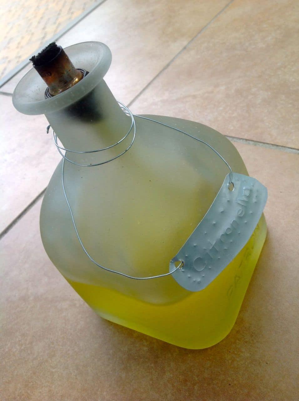 Glass Bottle Crafts Tiki Torch
