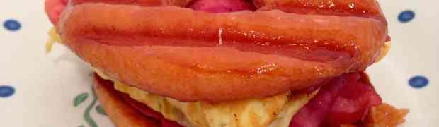 Glazed Doughnut Breakfast Sandwich