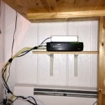 WiFi Router Under Craft Table