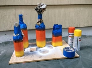 paint candy corn bottles