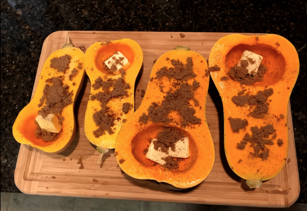 smoked butternut squash brown sugar