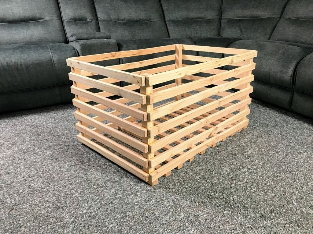 DIY Wood Storage Crate