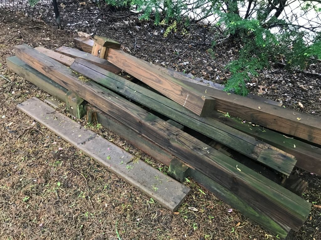 Recycled Lumber pile